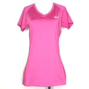 Nike Pro Pink Dri-Fit Athletic Workout Top A010633